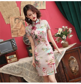 Chinese dress retro traditional oriental qipao dresses model show drama photos shooting cosplay dress cheongsam for party