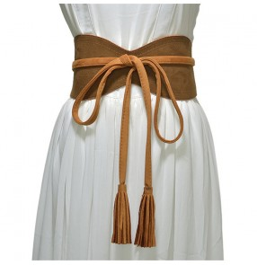 Corset Wide Belts Slimming Body Belts for women Waist Belts wide self tie Obi belt for white evening dress ceinture de taille femme