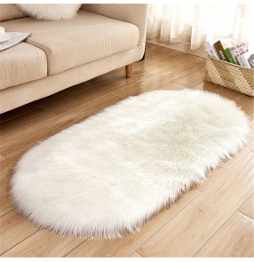 Creative home faux fur wool carpet floor mat living room sofa cold-proof plush floor mat bedroom non-slip mat