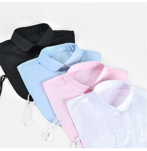 Fashion turn down white black fake collar for women girls shirt detachable lapel collar for blouses sweater top