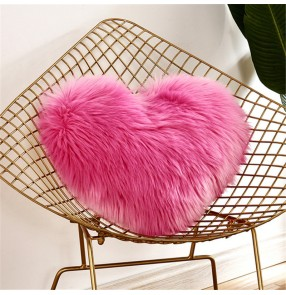 Faux Fur home cushion pillowcase Sofa cushion love pillow can be washed plush pillow cover without pillow core