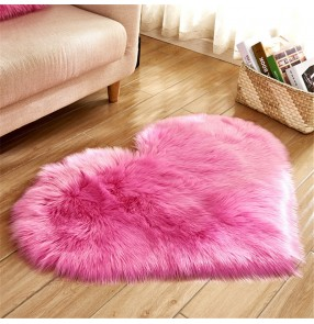 Faux fur Plush living room heart-shaped carpet non-slip floor mat blanket home decor sofa mat cute girly style