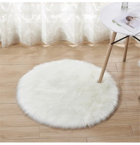 Faux fur Plush round rug yoga mat floor mat imitation Australian wool rug home decoration blanket