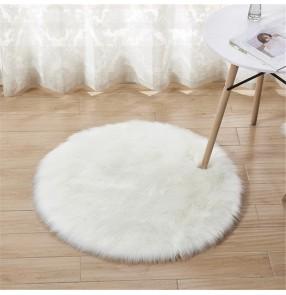 Faux fur Plush round rug yoga mat floor mat imitation Australian wool rug home decoration blanket