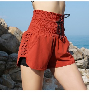 High waist yoga fitness dance pants sports shorts women loose running quick-drying pants short de yoga