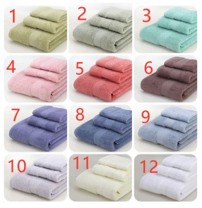 Home Towels travel trip towels Cotton Plain Gifts Bath Towels hand towel face towel bath towel 3 Piece Set