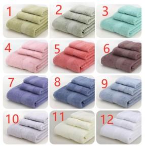 Home Towels travel trip towels Cotton Plain Gifts Bath Towels hand towel face towel bath towel 3 Piece Set