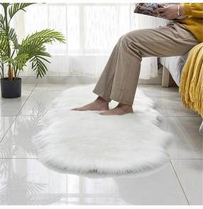 Imitation wool leather sofa carpet floor mat imitation wool cushion window mat living room bedroom non-slip floor mat blanket