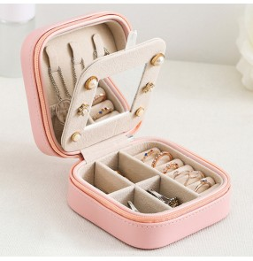 jewelry Organizer Earring Ear Stud rings PU Leather Portable Jewel Case Jewellery Packaging Gift Boxes Travel Jewelry Box