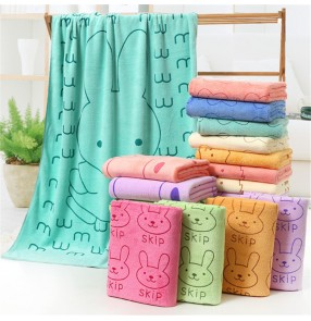 Microfiber bath towel 70*140cm cartoon absorbent printing bath towel