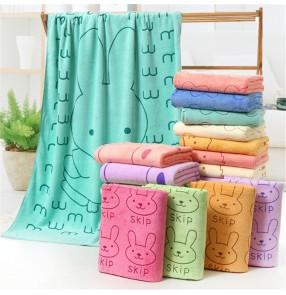 Microfiber bath towel 70*140cm cartoon absorbent printing bath towel