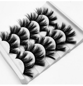 Mink hair 5 pairs of thickened eyelashes for women make up natural nude makeup eyelashes beauty performance