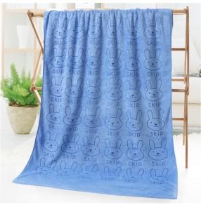 Rbbit cartoon bath towel microfiber printed absorb bath towel 70cm*140cm