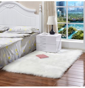 Sofa plush rug Nordic style home decor mat wool-like cushion window mat home baby play cold-resistant non-slip blanket