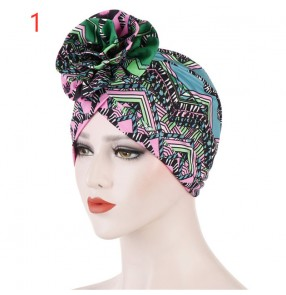 Women's african turban hat printed bandana head scarf for female
