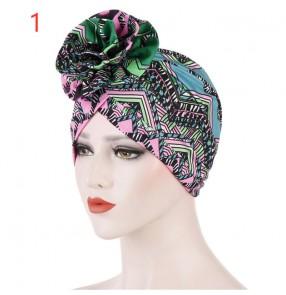 Women's african turban hat printed bandana head scarf for female