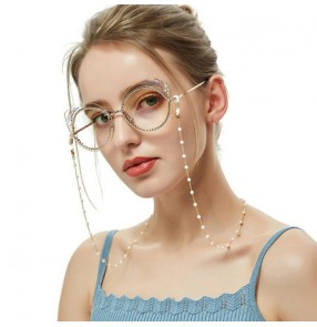 2pcs Art youth trend sun glasses nearsighted glasses chain Anti-slip face mask beaded chain Handmade pearl glasses chain
