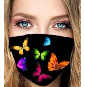2pcs butterfly reusable face masks for women stage performance photos shooting face masks for female