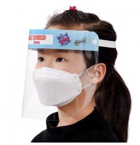 2pcs Children cartoon anti-spray saliva face shield double sided anti-fog direct splash protective full face mask for kids