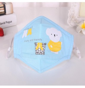 2PCS Cotton reusable face mask for kids anti dust pm 2.5 Spitting mouth mask for children