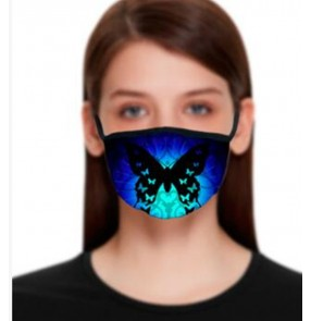 2PCS fashion 3D printed reusable face masks for women dust proof  masquerade cospaly protective mouth mask for female