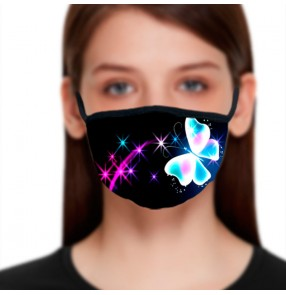 2PCS fashion reusable face masks for women photos video shooting influencer face masks