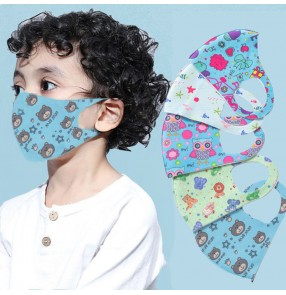 2PCS kids reusable face masks cartoon breathable summer mouth masks for boy