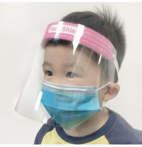 2pcs kids transparent anti-fog face shield direct splash saliva protect for children boys girls full face cover mask with elastic head band