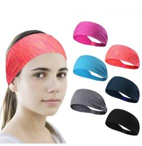 2pcs Men and women running sports headband yoga fitness headband cycling headband turban for unisex with button wearing mask