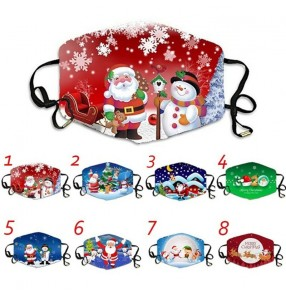 2pcs Merry Christmas face masks for unisex washable brethable and reusable xmas face masks for women and men
