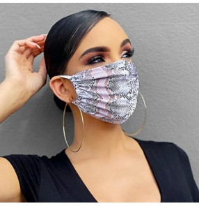 2pcs Printed reusable face masks for women fashion party stage peformance photos video shooting mouth mask for female