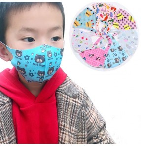 2pcs reusable children boy cartoon cotton face mask anti dust mouth mask could be washed