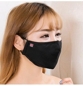 2PCS Reusable cotton face mask dust-proof anti PM2.5 with 2pcs carbon filter for each mouth mask