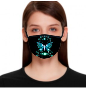 2PCS Reusable cotton face masks for women fashion photos video shooting masquerade cosplay face masks for female