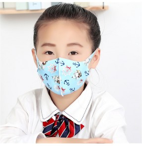 2pcs reusable face mask for kids cartoon pattern summer dustproof breathable thin protective mouth mask for children