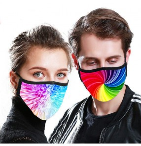 2PCS Reusable face mask for unisex photos shooting dust proof protective mouth mask for women and men