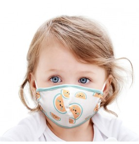 2pcs reusable face masks for kids cartoon cotton dust proof mouth masks for boy and girls