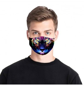 2PCS Reusable face masks for unisex fashion 3D animal printed protective face masks for women and men