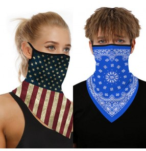 2PCS reusable face masks for women and men outdoor riding dust proof neck guard scarf anti uv protective mouth mask