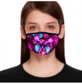 2PCS Reusable face masks for women fashion butterfly pattern photos shooting protective face masks for female