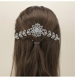 2pcs Rhinestones hair comb for wearing mask Anti-earache Artifact party evening dress Hair Comb photos shooting jewelry headdress for female