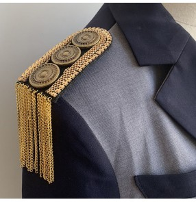 2pcs Suit Metal Tassel Epaulettes for blazer coats European and American Retro Clothing Accessories Handmade Jewelry