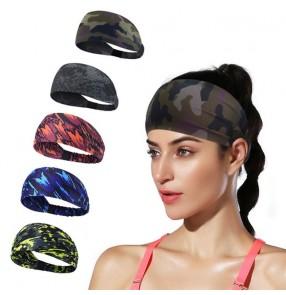 2pcs Sweat-absorbent non-slip sports headband breathable headband women's sports running hiking yoga fitness turban with button wearing mask