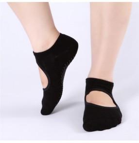 3pair women Indoor-floor yoga socks ballet exercises practice socks terry non-slip bottom cotton yoga socks
