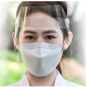 3pcs Anti-splash impact anti-droplet salivary face shield virus bacterial protective hood transparent full face mask for adult and children