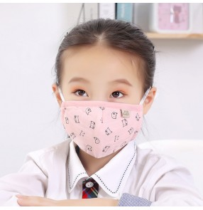 3PCS Cartoon reusable face masks for kids girls boys cotton mouth masks