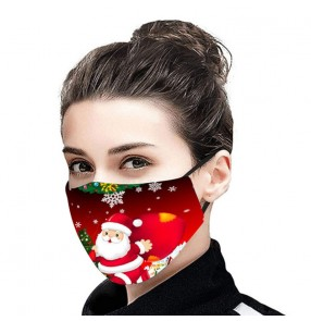 3PCS Christmas xmas printed face masks for unisex fashion washable reusable face masks for women and men
