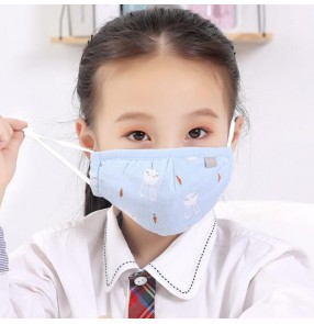 3PCS kids reusable face masks cartoon cotton mouth mask for boys and girls