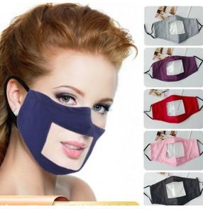 3pcs Reusable Lip language face mask for unisex cotton anti-fog dust protection sign language visible mouth mask deaf and mute lip language face mask