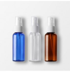 50ml spray PET plastic bottle Cosmetic packaging bottle Fine mist spray bottle small Alcohol perfume spray plastic bottle